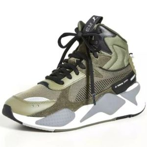 Puma RS-X Midtop Utility Olive Green Size 8